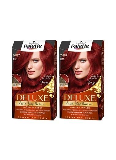 Palette Palette Deluxe Yoğun Renkler 7-887 Ateş Kızılıx 2 Paket Renkli